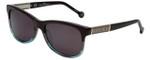 Carolina Herrera Designer Sunglasses SHE594-0AM5 in Brown Teal Fade