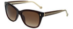 Carolina Herrera Designer Sunglasses SHE596-0958 in Brown
