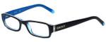 DKNY Designer Eyeglasses DY4585-3387 in Black Blue 50mm :: Rx Single Vision