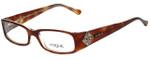 Vogue Designer Eyeglasses VO2504-1471 in Brown 49mm :: Rx Single Vision