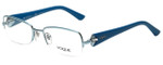 Vogue Designer Eyeglasses VO3864B-716 in Blue 53mm :: Custom Left & Right Lens