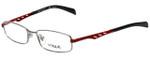 Vogue Designer Eyeglasses VO3755-548 in Silver Red 51mm :: Rx Single Vision