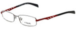 Vogue Designer Eyeglasses VO3755-548 in Silver Red 51mm :: Progressive