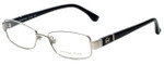 Michael Kors Designer Eyeglasses MK338-045-48 in Silver Black 48mm :: Progressive