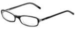 Ralph Lauren Designer Eyeglasses RL6017-5011 in Black Transparent 49mm :: Rx Single Vision