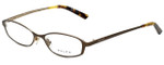 Ralph Lauren Designer Eyeglasses RA6037-456-49 in Dark Gold 49mm :: Rx Single Vision