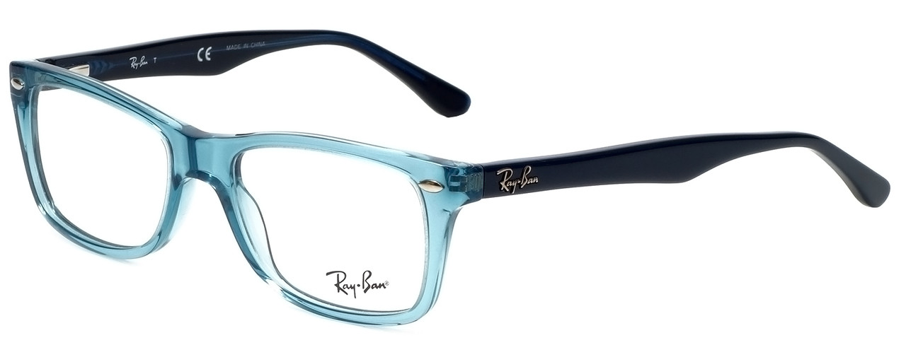 f9953146a4291 Ray-Ban Designer Reading Glasses RB5228-5235 in Transparent Blue 50mm.  Image 1