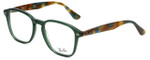 Ray-Ban Designer Eyeglasses RB5352-5630 in Green Tortoise 52mm :: Rx Single Vision