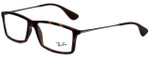 Ray-Ban Designer Eyeglasses RB7021-5365 in Matte Tortoise 55mm :: Rx Single Vision
