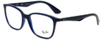 Ray-Ban Designer Eyeglasses RB7066-5584-52 in Dark Navy 52mm :: Rx Single Vision