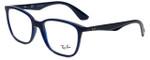Ray-Ban Designer Eyeglasses RB7066-5584-52 in Dark Navy 52mm :: Progressive