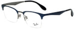 Ray-Ban Designer Eyeglasses RB6360-2863 in Blue Gunmetal 49mm :: Progressive