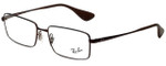 Ray-Ban Designer Eyeglasses RB6337M-2758 in Brown 53mm :: Progressive