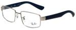 Ray-Ban Designer Eyeglasses RB6319-2538 in Silver Blue 53mm :: Custom Left & Right Lens