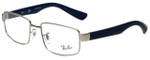 Ray-Ban Designer Eyeglasses RB6319-2538 in Silver Blue 53mm :: Progressive