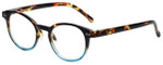 M Readers Designer Reading Glasses 101-DEMBU in Tortoise Blue Fade 44mm