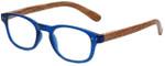 M Readers Designer Reading Glasses 102-MBLUE in Matte Blue Wood 46mm