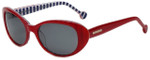 Jonathan Adler Designer Sunglasses Palm Beach in Red