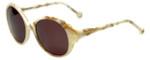 Jonathan Adler Designer Sunglasses Malibu in Bone