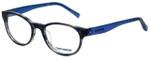 Converse Designer Eyeglasses Q014-Black-Stripe in Black Stripe and Blue 48mm :: Custom Left & Right Lens