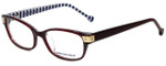 Jonathan Adler Designer Eyeglasses JA502-Burgundy in Burgundy 53mm :: Custom Left & Right Lens