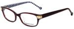 Jonathan Adler Designer Eyeglasses JA502-Burgundy in Burgundy 53mm :: Custom Left & Right Lens