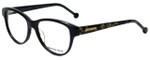 Jonathan Adler Designer Eyeglasses JA310-Black in Black 53mm :: Progressive