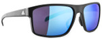 Adidas Designer Sunglasses Whipstart in Matte Black & Blue Mirror Lens