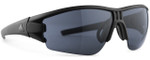 Adidas Designer Sunglasses Evil Eye Halfrim in Matte Black & Grey Lens