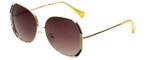Lucky Brand Designer Sunglasses Aurora in Gold with Bown Lens