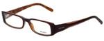 Prada Designer Eyeglasses VPR15G-7OI1O1 in Burgundy Brown 53mm :: Progressive