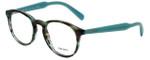 Prada Designer Eyeglasses VPR19S-UEN1O1 in Turquoise Havana 48mm :: Custom Left & Right Lens