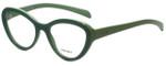 Prada Designer Eyeglasses VPR25R-TKQ1O1 in Green 52mm :: Rx Single Vision