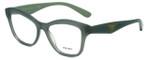 Prada Designer Eyeglasses VPR29R-UEI1O1 in Green 54mm :: Rx Single Vision