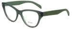 Prada Designer Eyeglasses VPR23S-UEI1O1 in Green 54mm :: Progressive