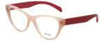 Prada Designer Eyeglasses VPR23S-UEW101-52 in Light Pink 52mm :: Progressive