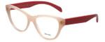 Prada Designer Eyeglasses VPR23S-UEW101-54 in Light Pink 54mm :: Progressive