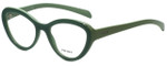 Prada Designer Eyeglasses VPR25R-TKQ1O1 in Green 52mm :: Progressive