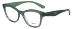 Prada Designer Eyeglasses VPR29R-UEI1O1 in Green 54mm :: Progressive