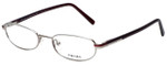 Prada Designer Eyeglasses VPR55F-1BC1O1 in Silver 49mm :: Rx Single Vision