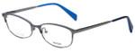 Prada Designer Eyeglasses VPR63R-QFM1O1 in Gunmetal 55mm :: Rx Single Vision