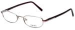 Prada Designer Reading Glasses VPR55F-1BC1O1 in Silver 49mm