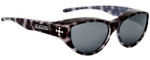 Jonathan Paul® Fitovers Eyewear Medium Chic Kitty in Black Cheetah & Gray CK001S
