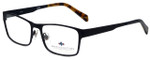 Argyleculture Designer Eyeglasses Calloway in Black Navy 55mm :: Rx Single Vision