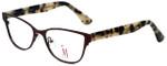 Isaac Mizrahi Designer Eyeglasses M106-02 in Brown 52mm :: Rx Single Vision