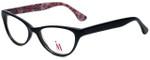 Isaac Mizrahi Designer Eyeglasses M110-01 in Black Pink 52mm :: Progressive