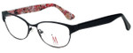 Isaac Mizrahi Designer Reading Glasses M109-01 in Black Pink 52mm