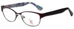 Isaac Mizrahi Designer Reading Glasses M109-02 in Brown 52mm