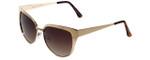 Isaac Mizrahi Designer Sunglasses IM116-61 in Satin Gold with Brown Lens