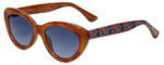 Isaac Mizrahi Designer Sunglasses IM62-22 in Honey Tortoise with Blue Lens
